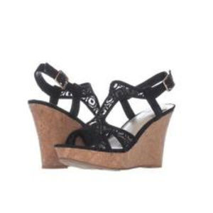 Fergalicious Lace Platform Sandals